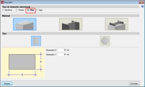 CYPE 3D. Pilares