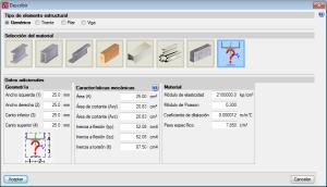 Nuevo Metal 3D. Barras genéricas. Otros materiales