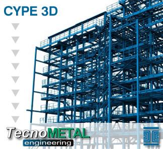 Exportación a TecnoMETAL® 4D de CYPE 3D y de las Estructuras 3D integradas de CYPECAD
