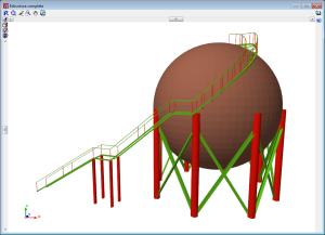 CYPE 3D. Láminas. Vista 3D depósito esférico